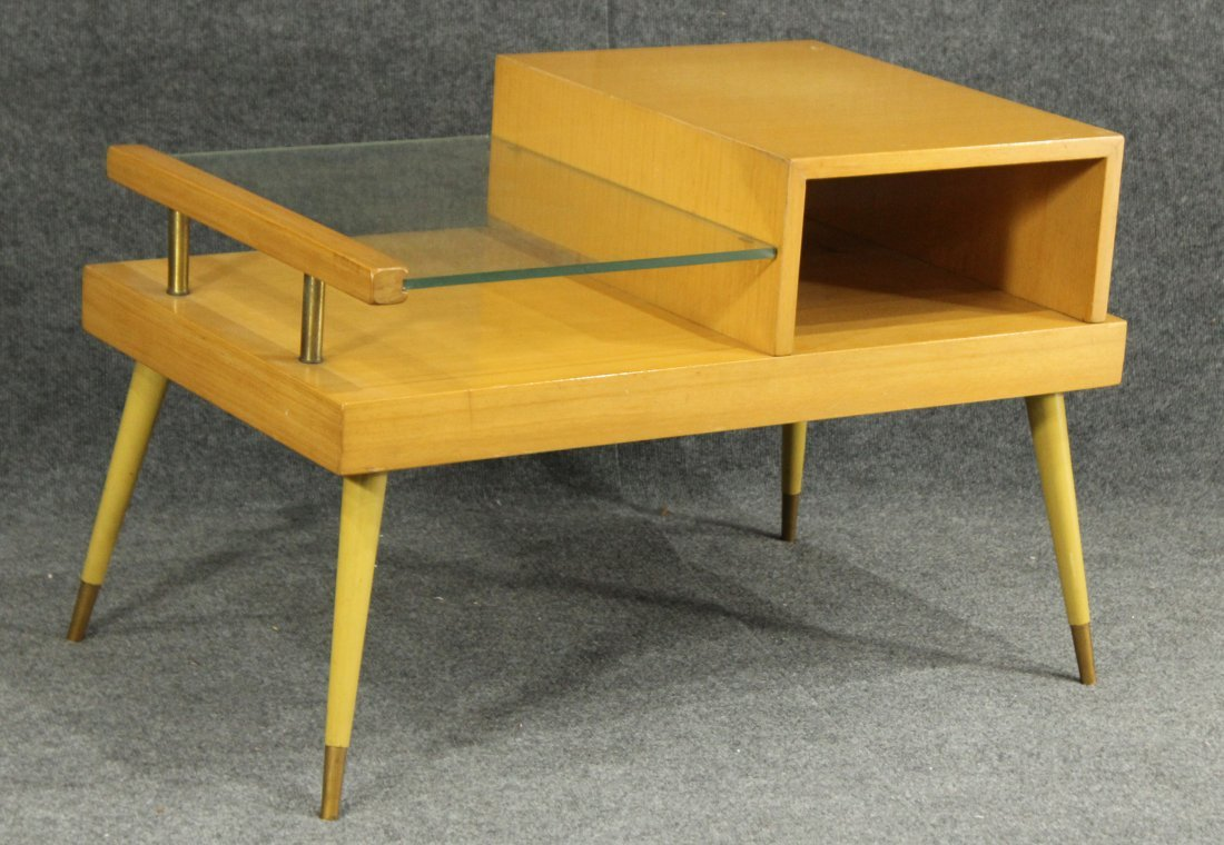 James Philip Co. ATOMIC BLOND WOOD SIDE TABLE