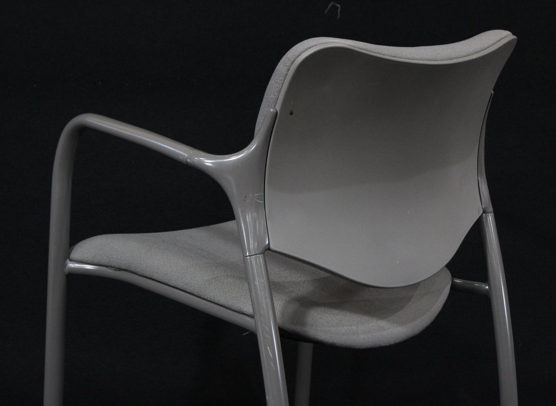 SET NINE HERMAN MILLER QUALITY STACKING ARM CHAIRS - 4