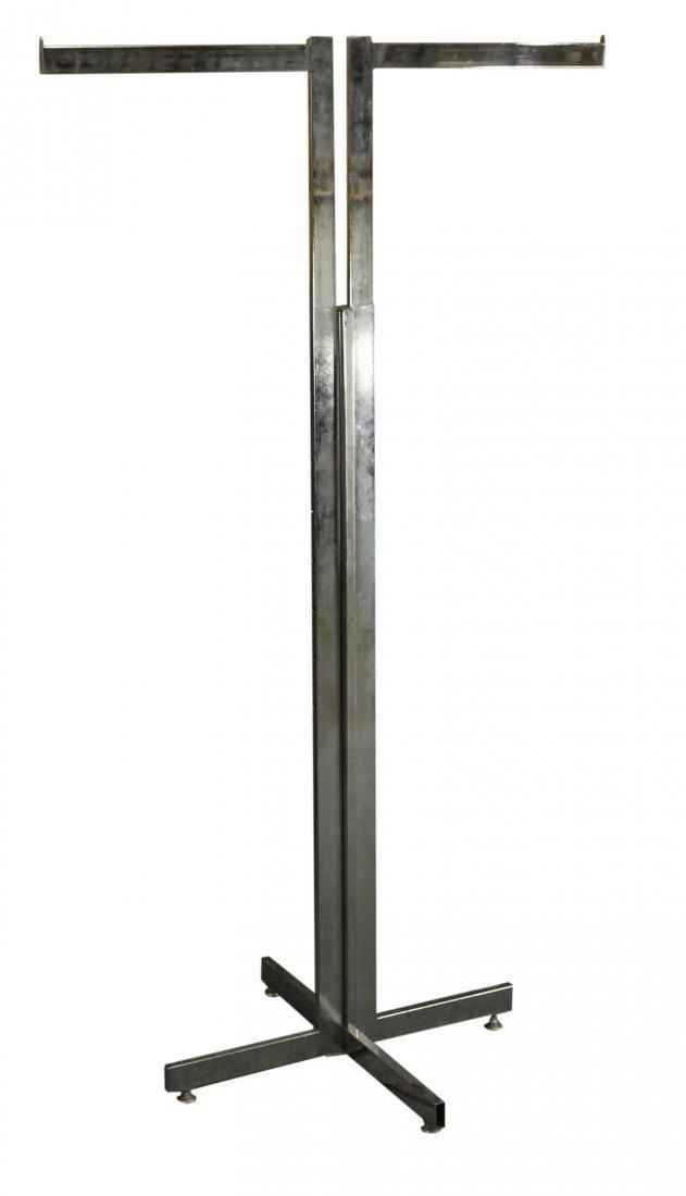 chrome mid-century clothes rack adjustable