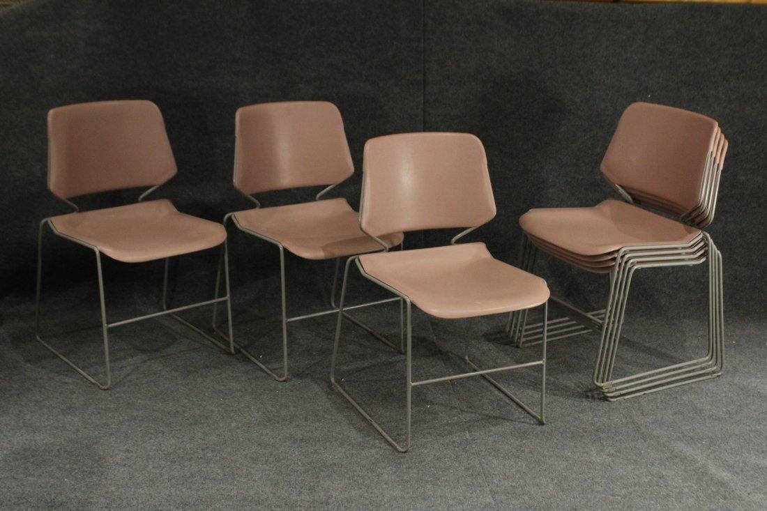 Krueger Matrix 7 pink industrial office side chairs
