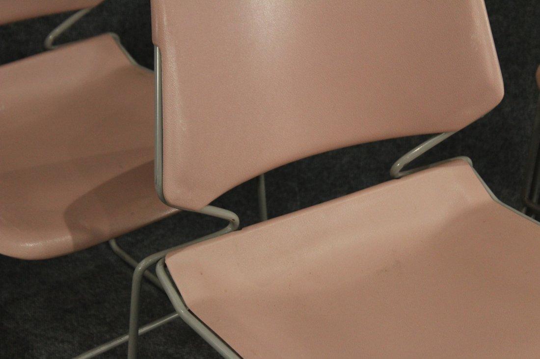 Krueger Matrix 7 pink industrial office side chairs - 2