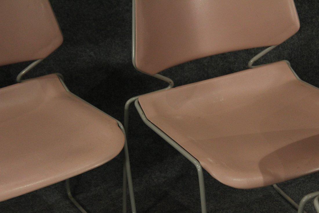 Krueger Matrix 7 pink industrial office side chairs - 3
