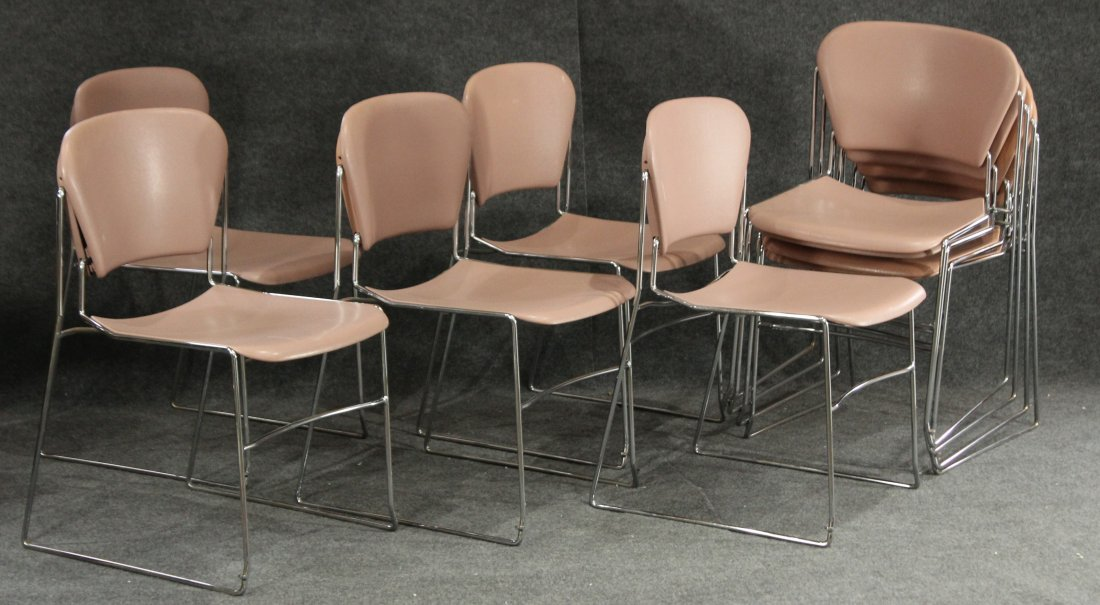 Krueger Perry chairs 9 nine , mid-century office
