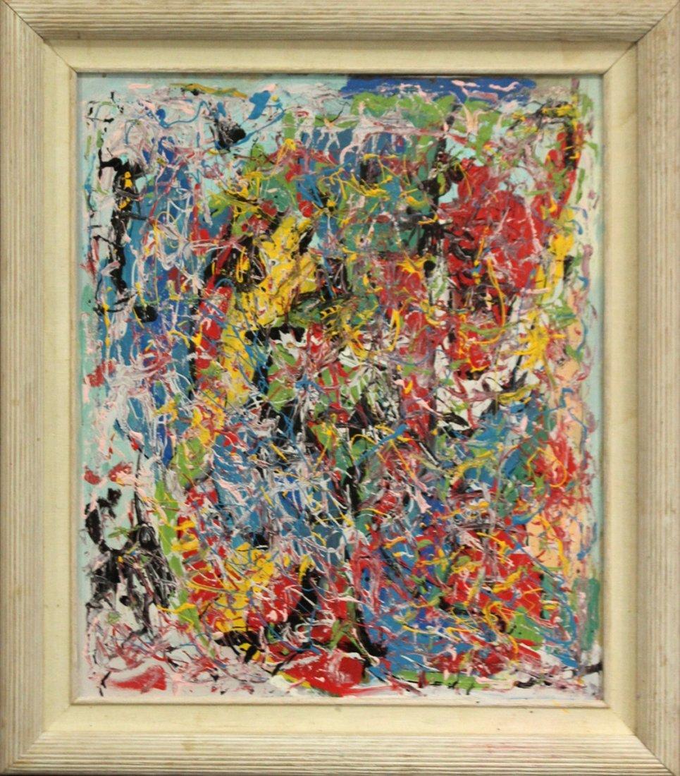 JACKSON POLLOCK STYLE Mod Colorful Drip Art Painting
