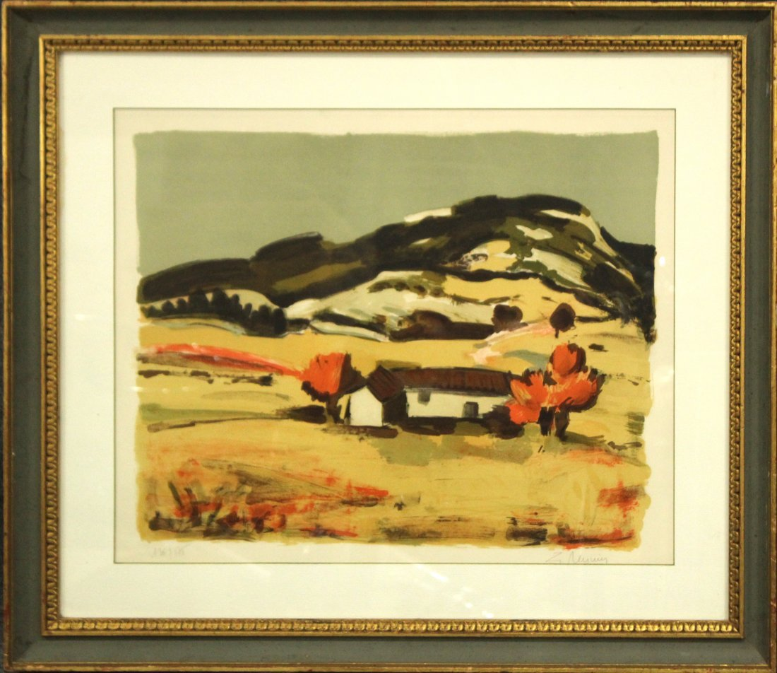 Z. REYNIG Litho #36/125 Ed., HOME IN MOUNTAINOUS VALLEY