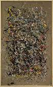 JACKSON POLLOCK STYLE Drip Art Painting EXCEPTIONAL LG