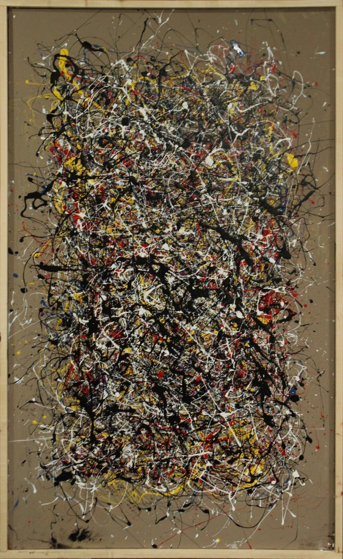 JACKSON POLLOCK STYLE Drip Art Painting EXCEPTIONAL LG.