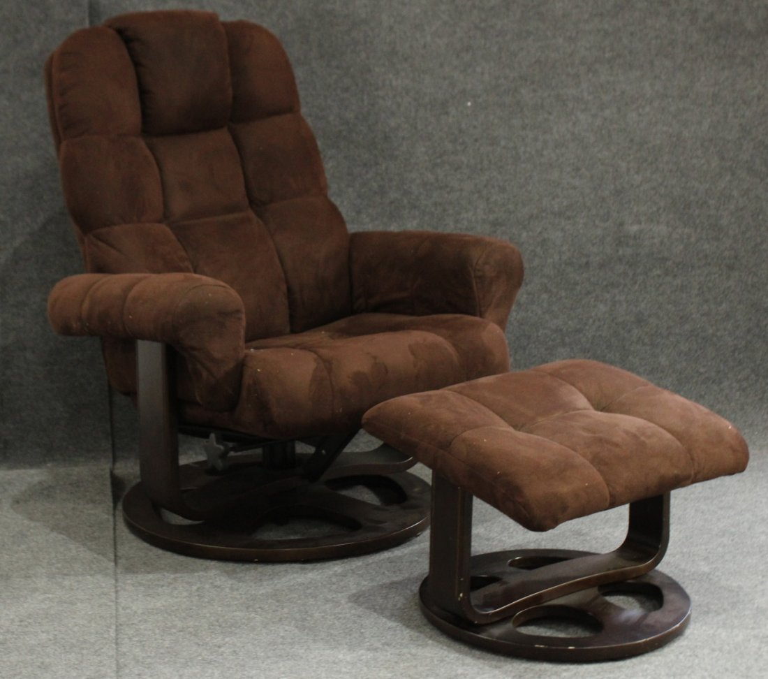 EKORNES STYLE Modern Design Brown Chair And Ottoman
