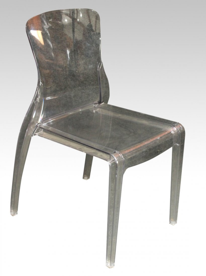 DOMITALIA Made In ITALY Molded Clear Lucite Chair