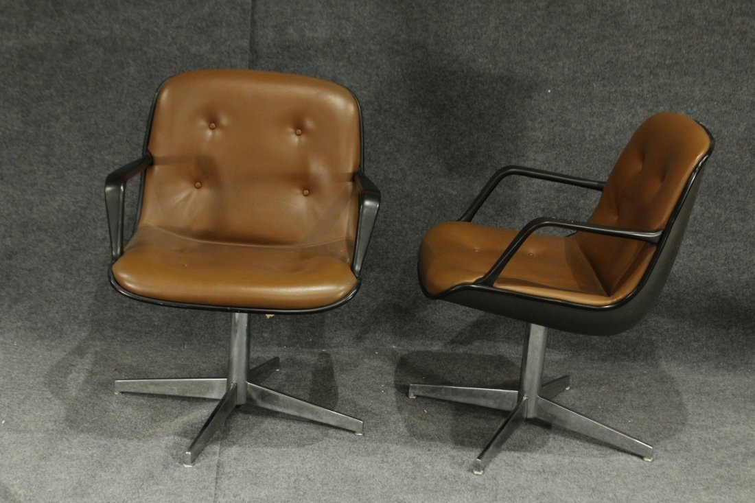 Pair MID CENTURY MODERN STEELCASE OFFICE CHAIRS