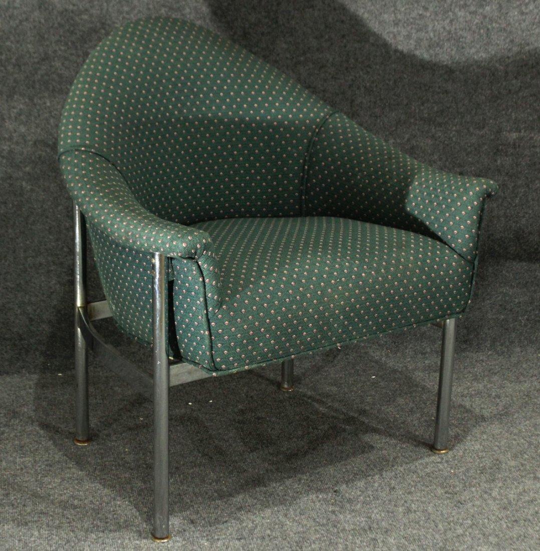 Erik Jorgensen attributed Tubular Chrome Lounge Chair
