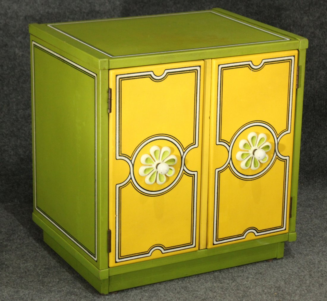 DOROTHY DRAPER Style GROOVY FLOWER CABINET CHEST