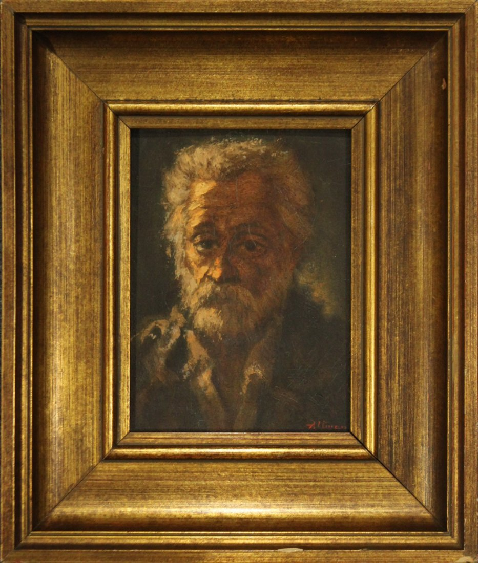 ALTMAN Oil/b PORTRAIT OF A BEARDED MAN Quality Painting