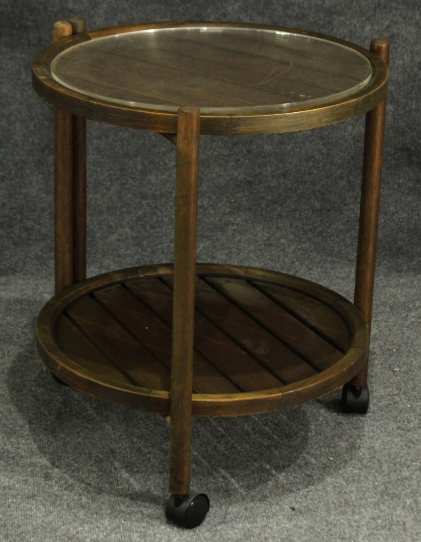 Mid Century Modern ROUND FOLDING SERVING STAND