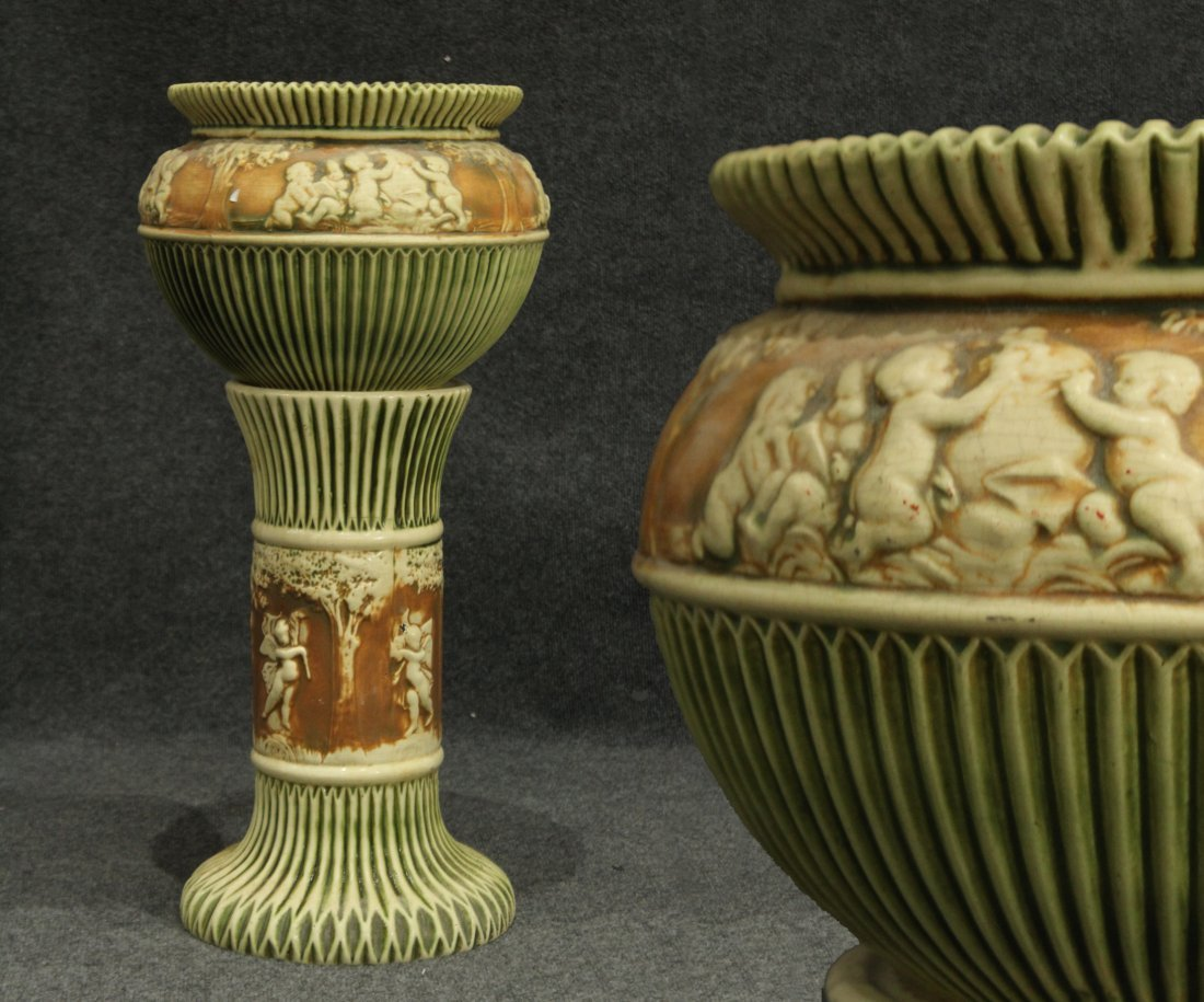 ROSEVILLE Pottery DONATELLO JARDINERE AND PEDESTAL