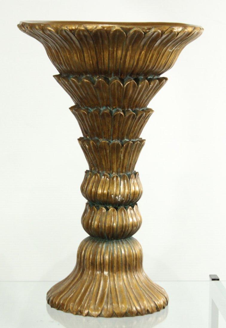 HOLLYWOOD REGENCY Stylish Pedestal Vase Stand