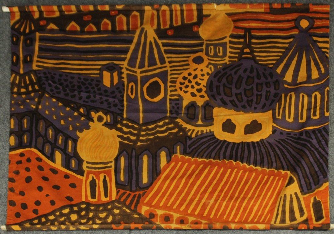 """KATSUJI WAKISAKA """"KUMISEVA"""" FINLAND 1971 Fabric Print"""