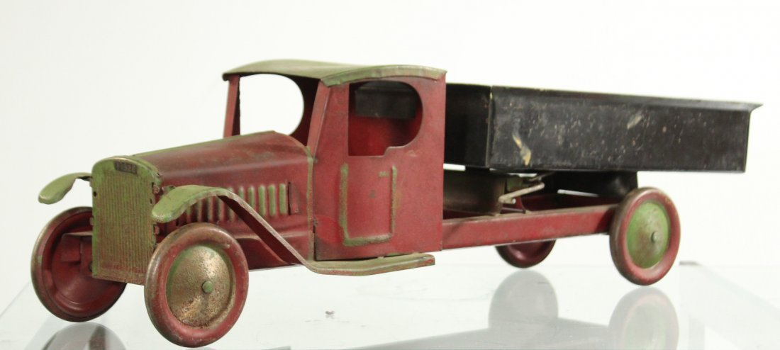Antique PRESSED STEEL - LITTLE JIM - DUMP TRUCK
