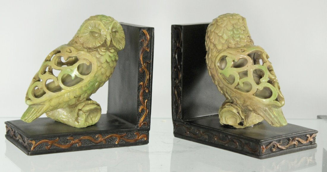 Pair Decorative OWL BOOKENDS  - Nice Quality.