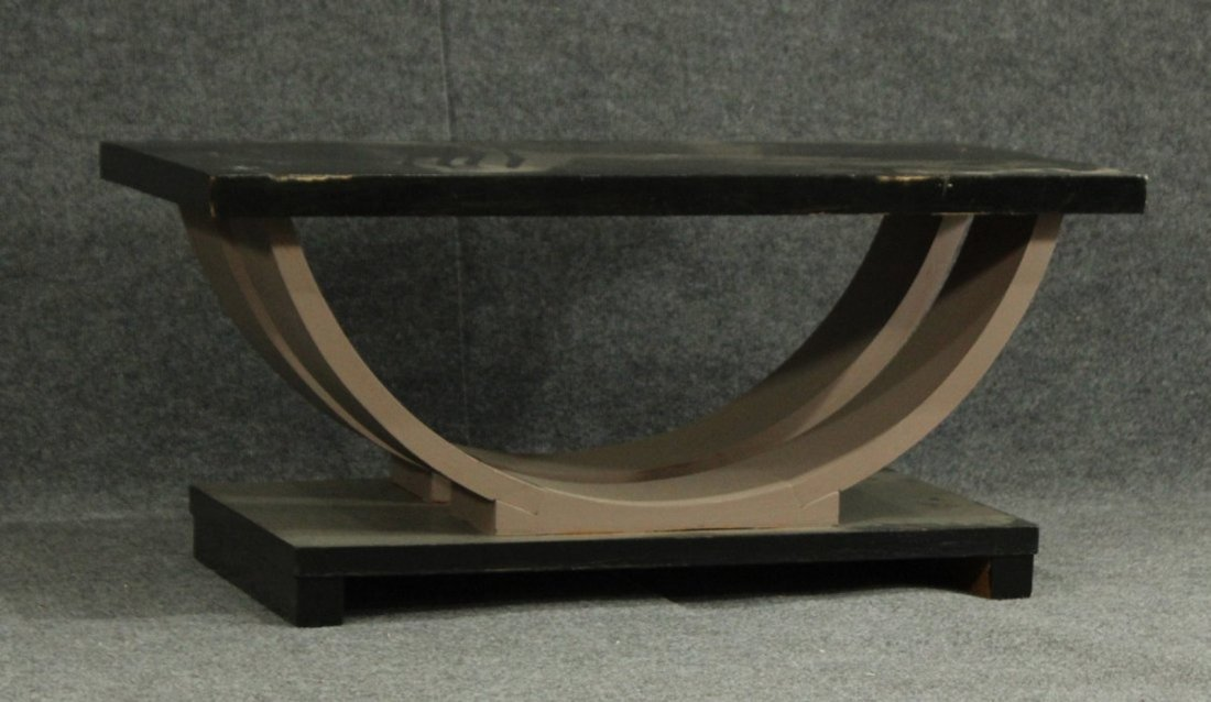 MID CENTURY ATOMIC DESIGN WOOD COFFEE TABLE