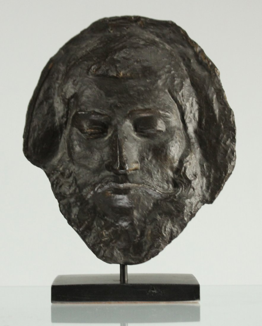 FACE SCULPTURE OF BACCHUS Mounted On Base - Composition