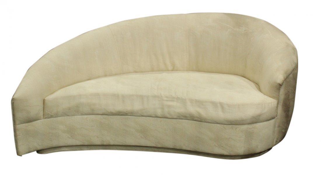 Milo Baughman Style Kidney / teardrop sofa