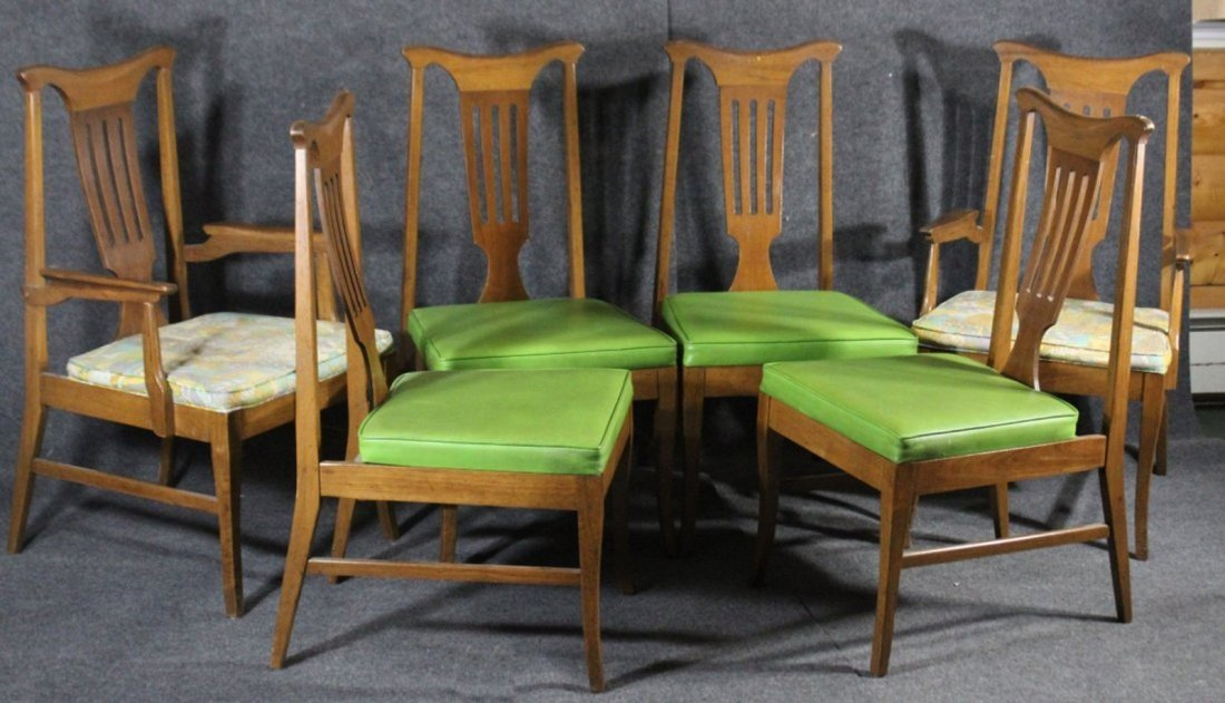 SET 6 DANISH MODERN DINING ROOM CHAIRS - Clean