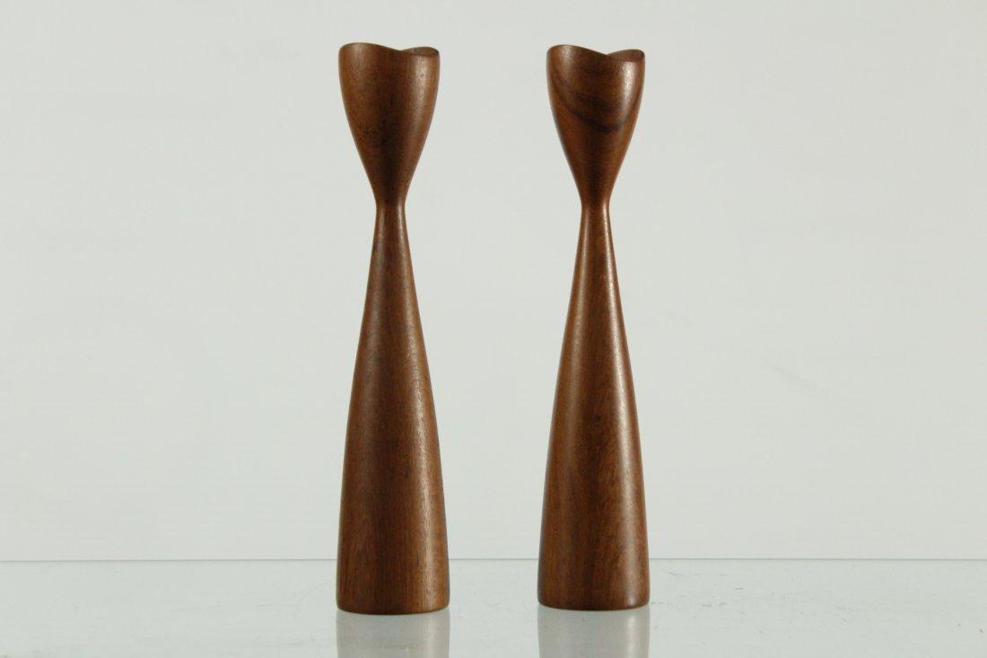 Adrian Pearsall Style candlesticks teak