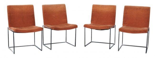 Set 4 MCM Chairs 1972 Milo Baughman for Thayer Coggin