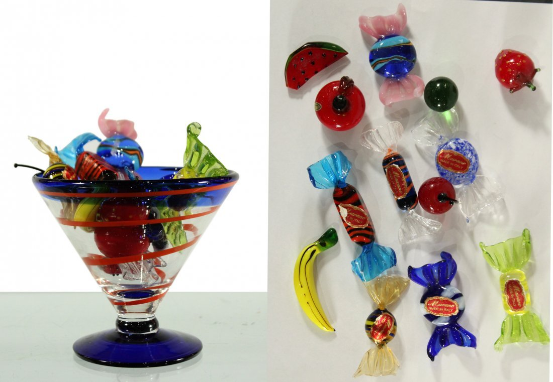 Vintage Murano Candy with cocktail glass