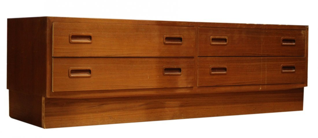 DANISH FURN. Made In Denmark Teak FOOT OF THE BED CHEST
