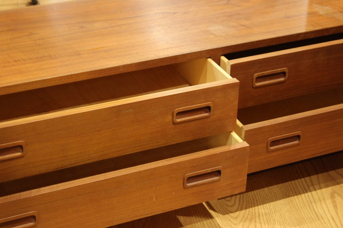 DANISH FURN. Made In Denmark Teak FOOT OF THE BED CHEST - 3