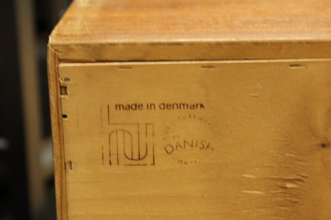 DANISH FURN. Made In Denmark Teak FOOT OF THE BED CHEST - 7