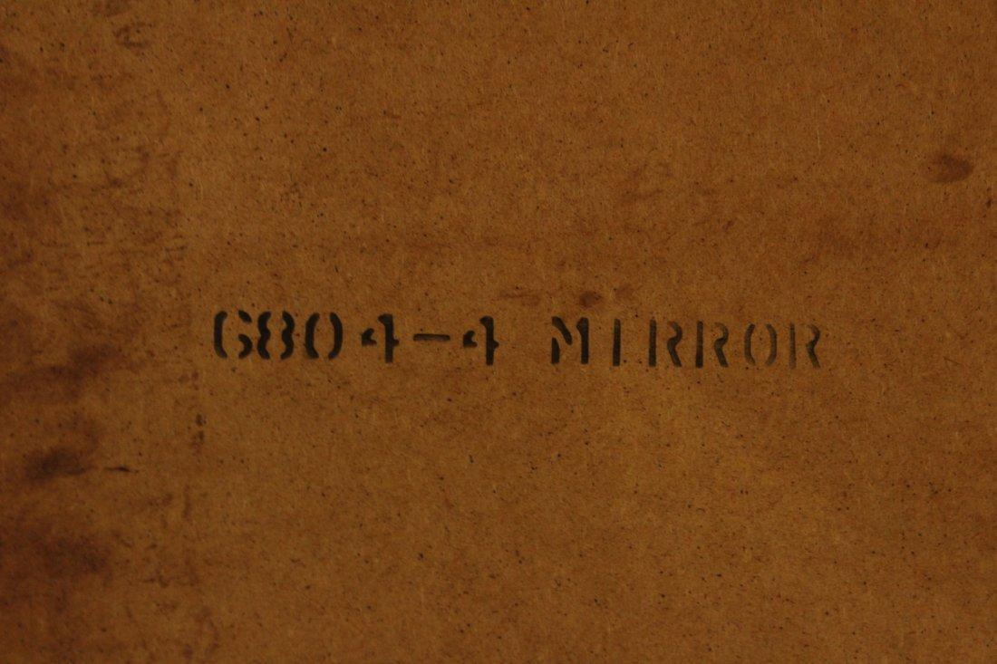 MID CENTURY MODERN WALNUT DRESSING WALL MIRROR - 4