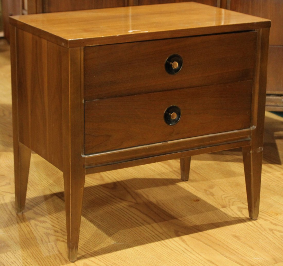 2-Piece MID CENTURY MODERN BR CHEST AND BED STAND - 2