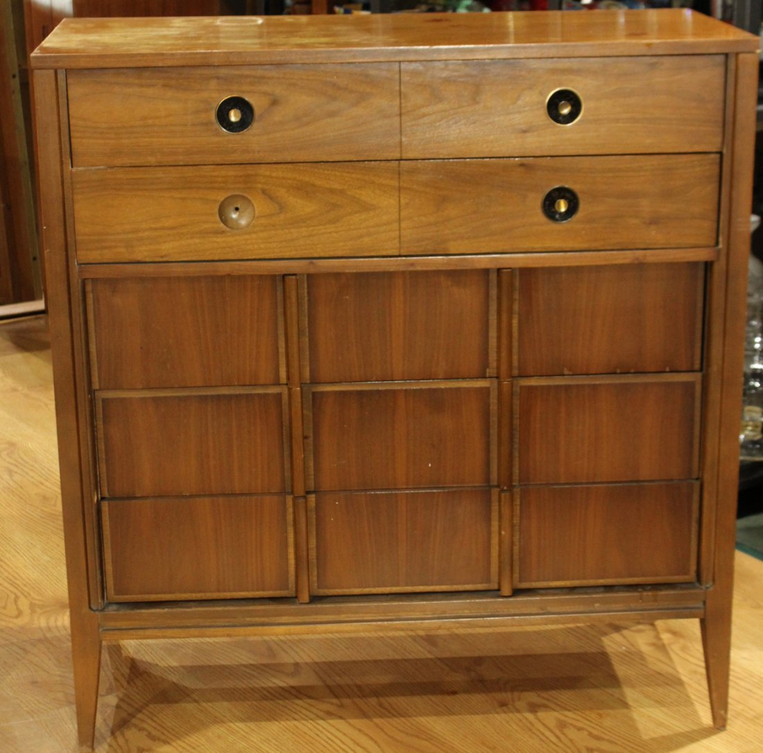 2-Piece MID CENTURY MODERN BR CHEST AND BED STAND - 5