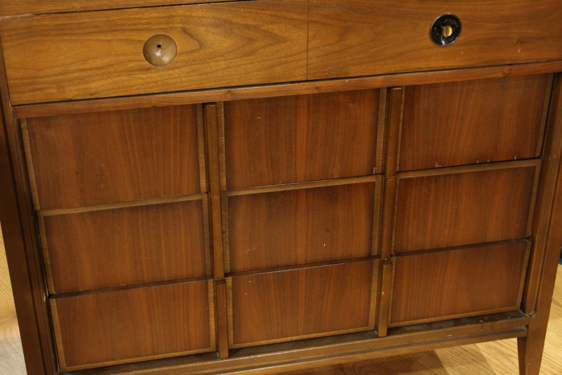 2-Piece MID CENTURY MODERN BR CHEST AND BED STAND - 6