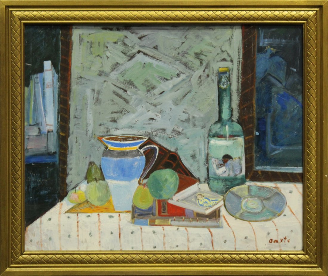 MICHAEL BAXTE Oil/b TABLE TOP STILL LIFE , SIGNED