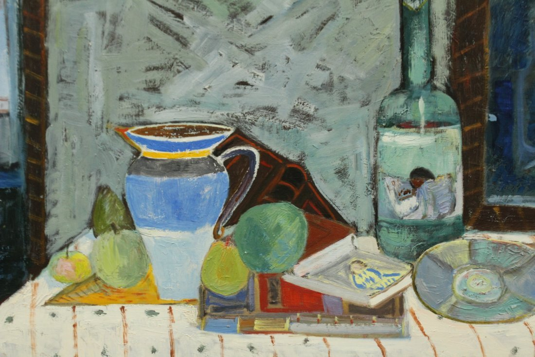 MICHAEL BAXTE Oil/b TABLE TOP STILL LIFE , SIGNED - 2