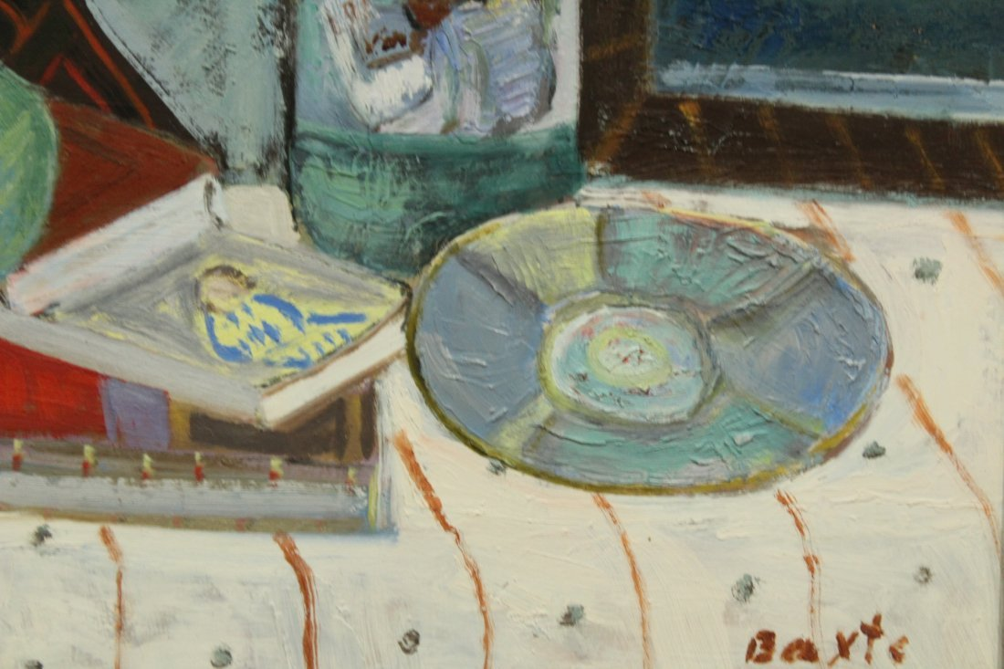 MICHAEL BAXTE Oil/b TABLE TOP STILL LIFE , SIGNED - 3