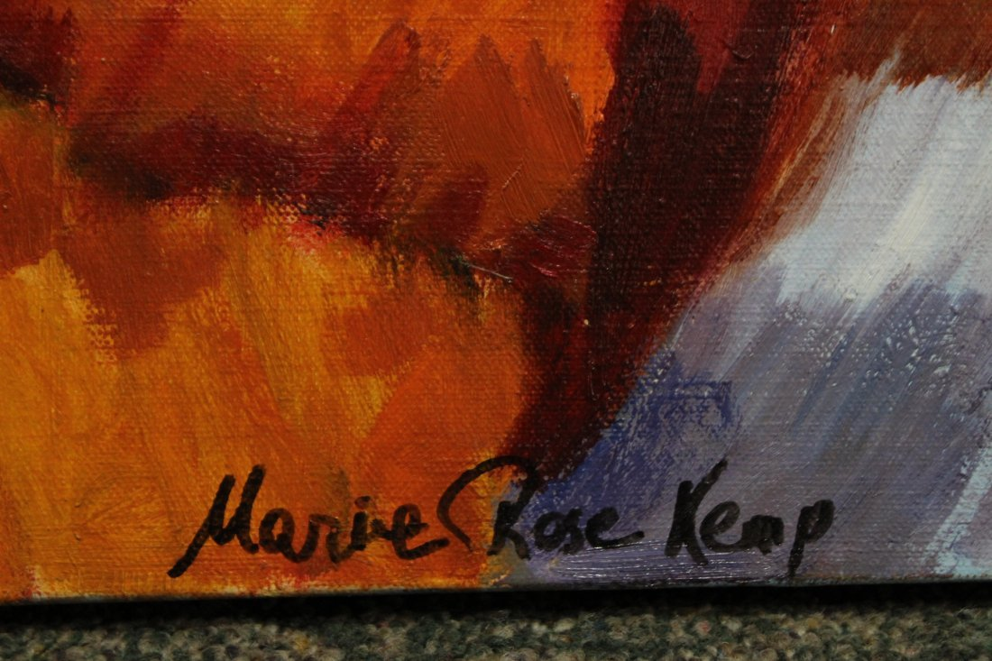 MARIE ROSE KEMP, Large Oil/c MID CENTURY ABSTRACT - 3