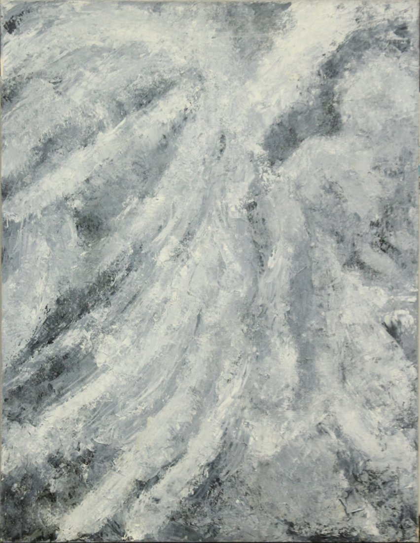 MARIE ROSE KEMP, Large Oil/c MID CENTURY ABSTRACT
