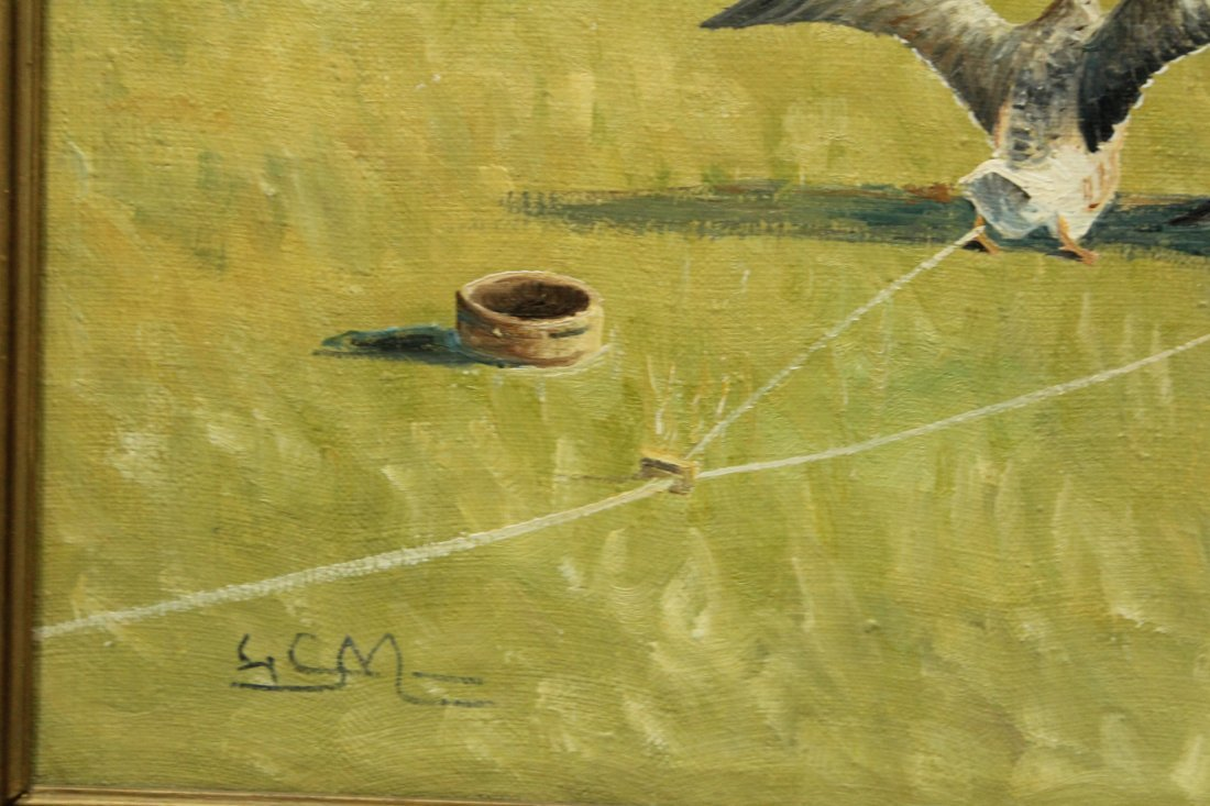 GEESE IN FORMED SYMMETRICAL FLIGHT Canvas Oil Painting - 4