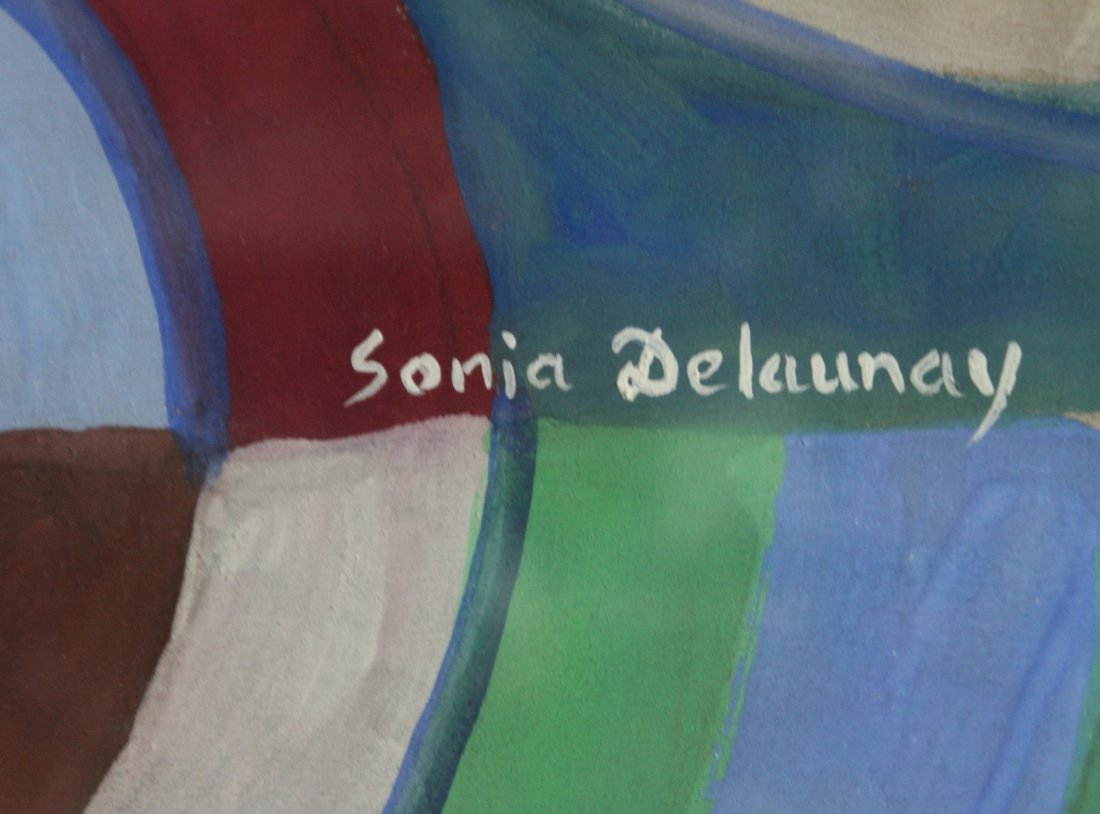 SONIA DELAUNEY attributed Gouache DISCS MULTI COLORS - 3