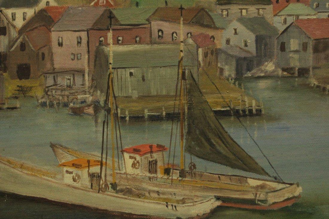 EDWIN A WILSON Oil/b FISHING BOATS 1940s Baltimore Exh. - 2