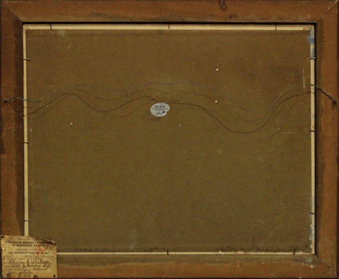 EDWIN A WILSON Oil/b FISHING BOATS 1940s Baltimore Exh. - 3