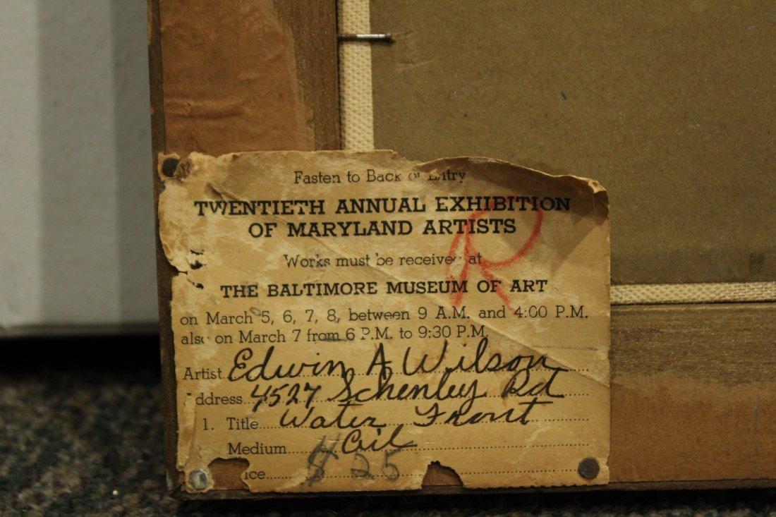 EDWIN A WILSON Oil/b FISHING BOATS 1940s Baltimore Exh. - 4