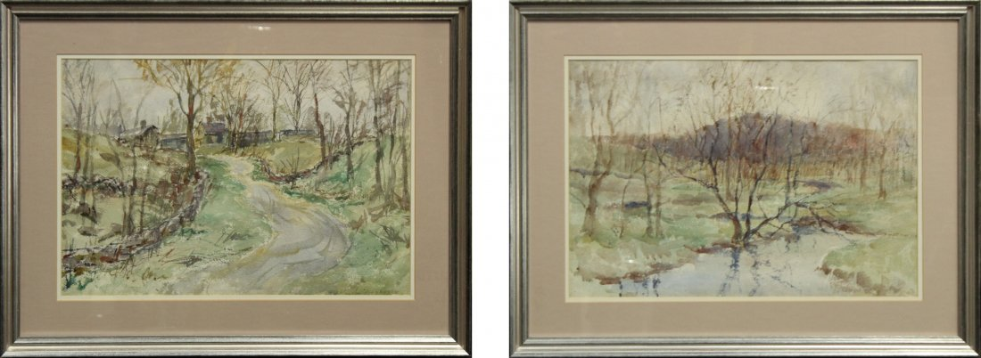 FRANK ZELL HEUSTON [2] Watercolor FINE LANDSCAPES