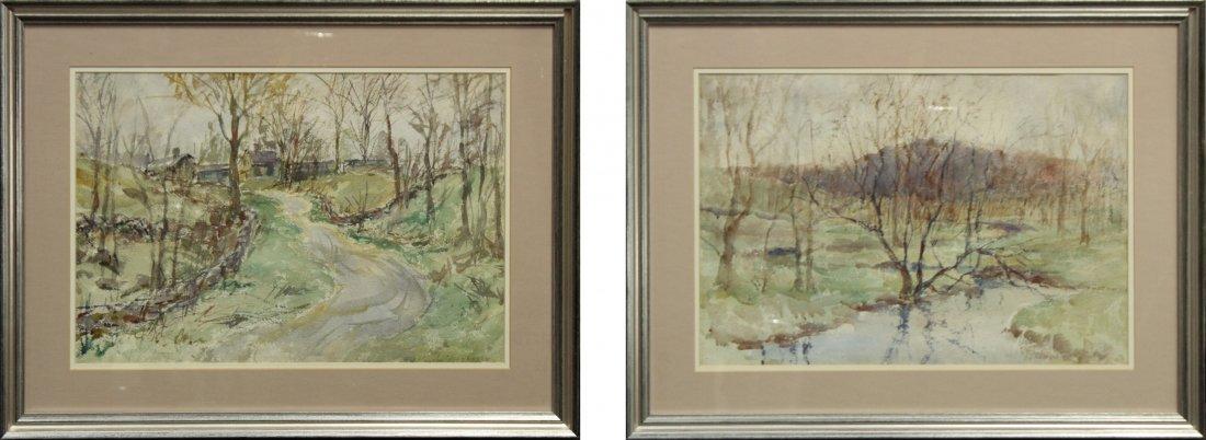 FRANK ZELL HEUSTON [2] Watercolor FINE LANDSCAPES