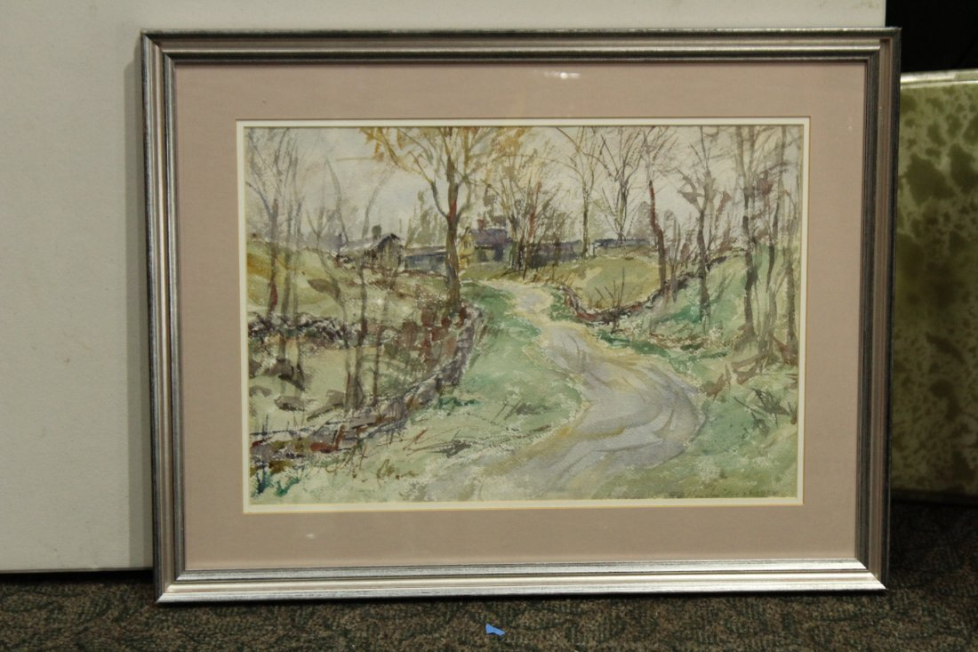 FRANK ZELL HEUSTON [2] Watercolor FINE LANDSCAPES - 2